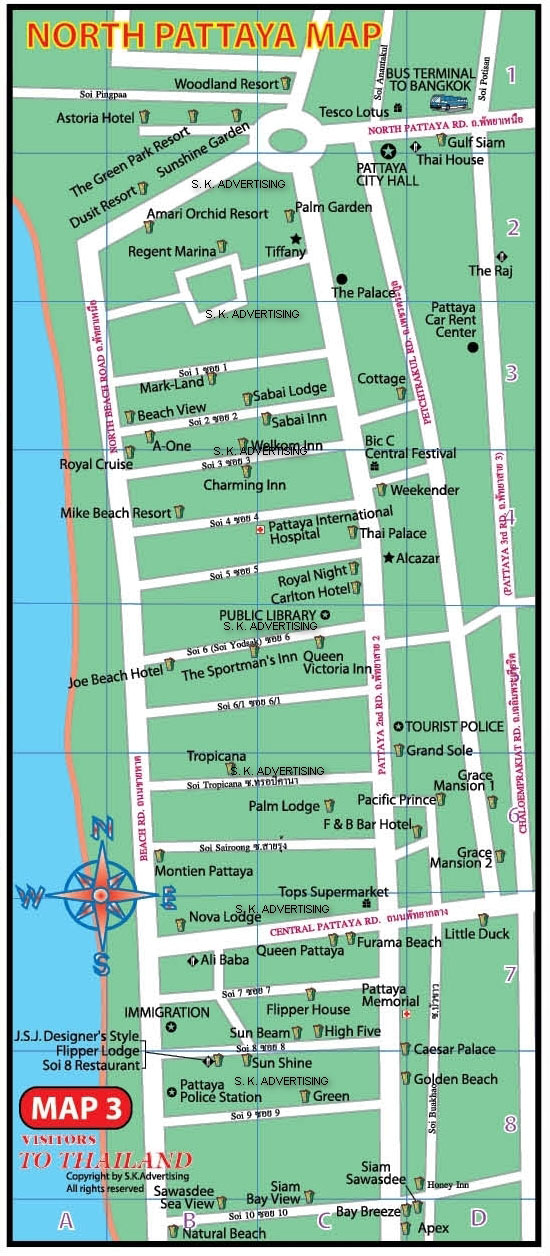 North Pattaya City Map