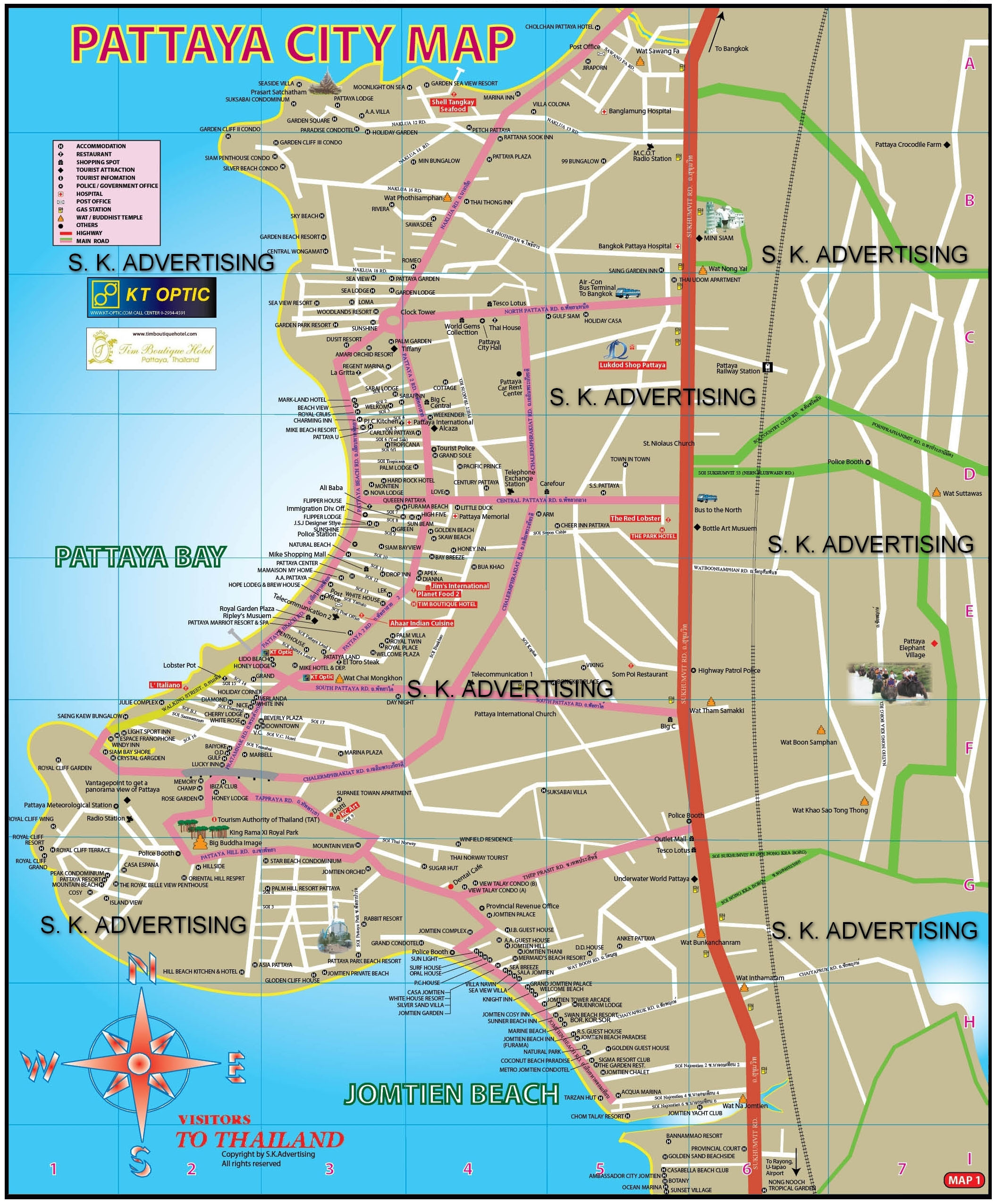 Pattaya City Map