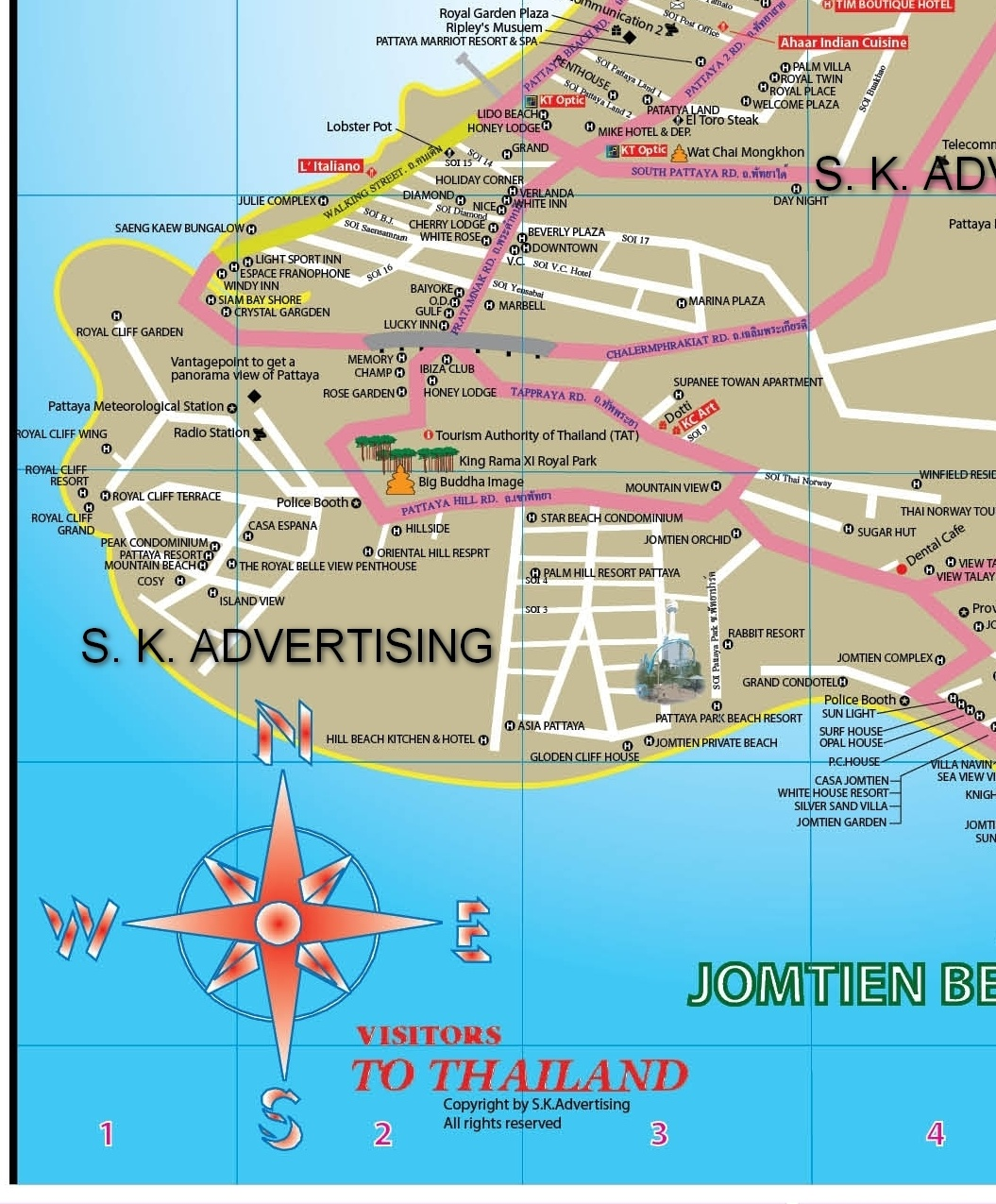 Pattaya City Map
