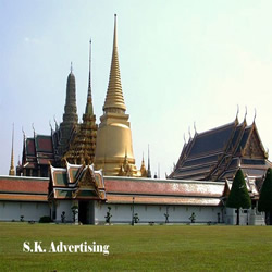 The temple of Emerlad Buddha image or Wat Pra Kaew
