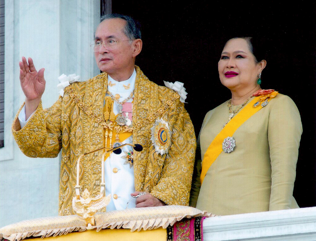 The Rama 9 and Queen