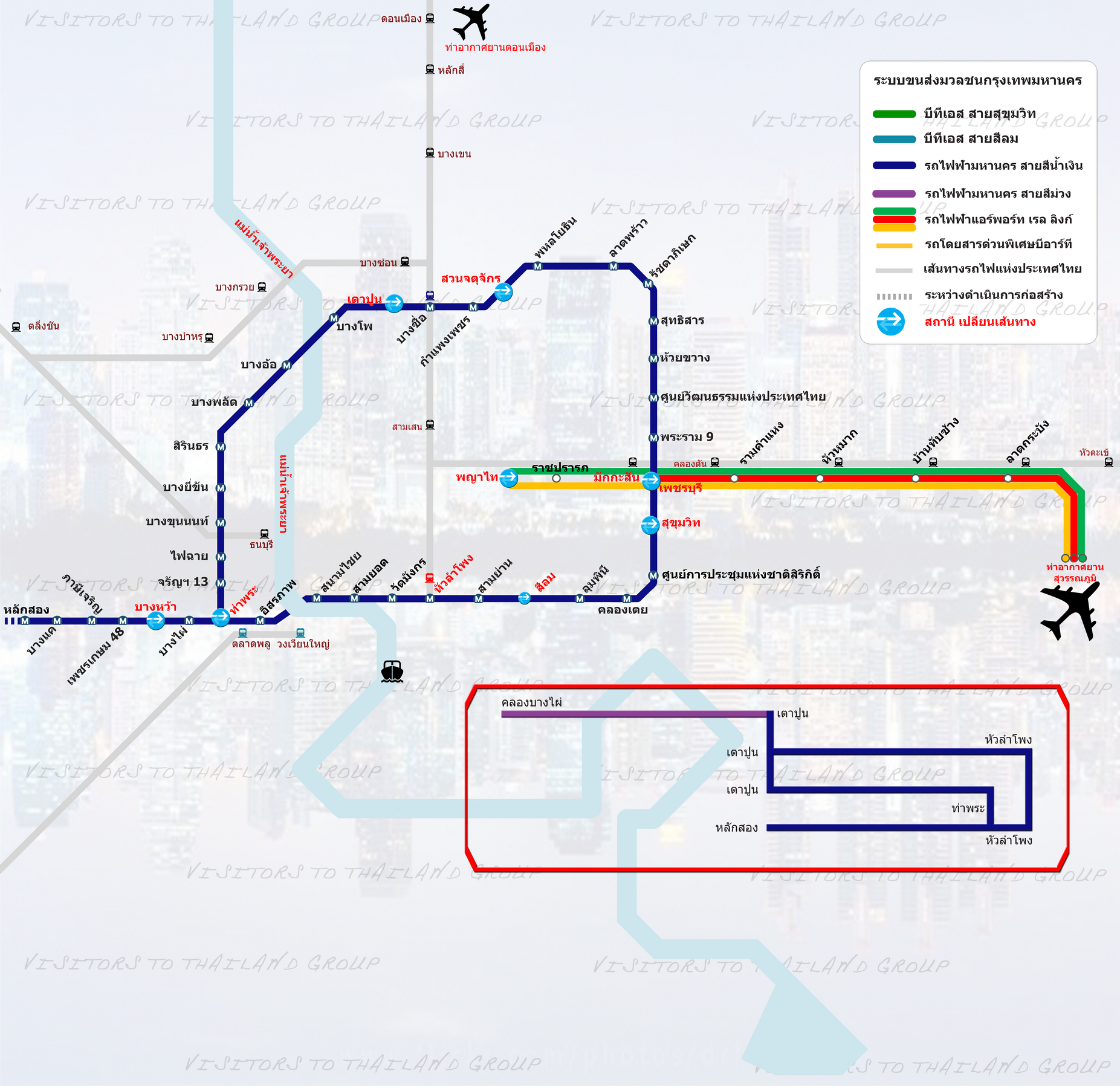 MRTA: Blue Line, Airport Rail Link & SRT