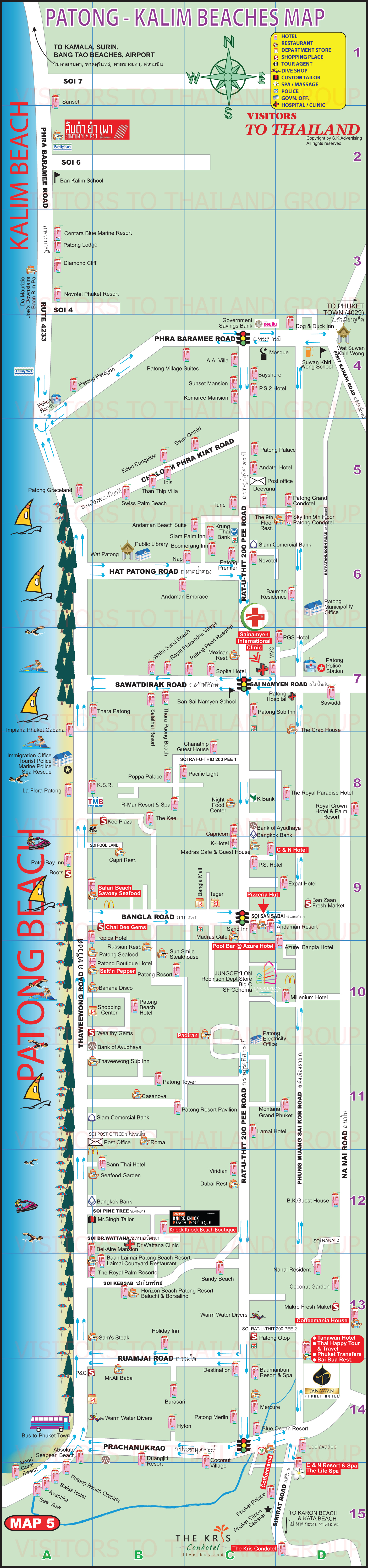 Patong Beach Map