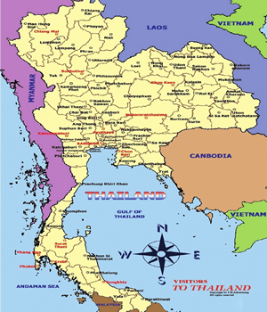 Tourist Maps in Thailand