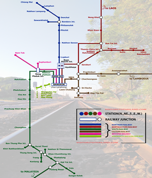Satate Railway Route Map