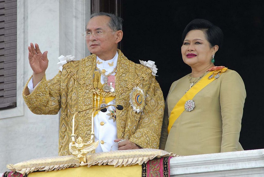 The Royal Highness Majesty the King Rama 9 and his Queen of the Kingdom of Thailand