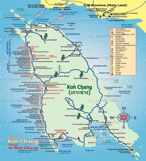 Koh Chang Map Shortcut