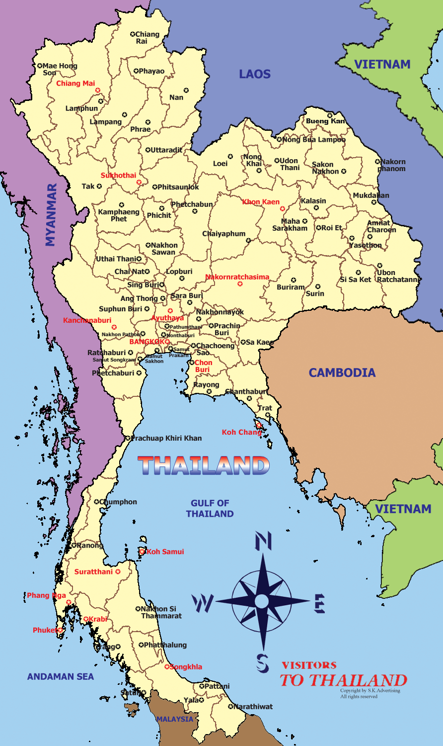 Thai Map English version
